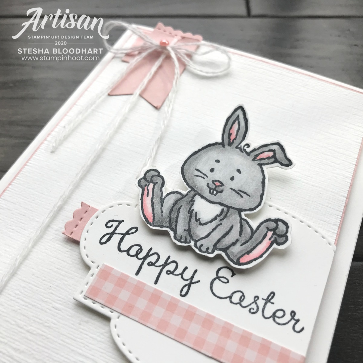Welcome Easter Stamp Set by Stampin' Up! Card by Stesha Bloodhart, Stampin' Hoot! 2020 Artisan Design Team