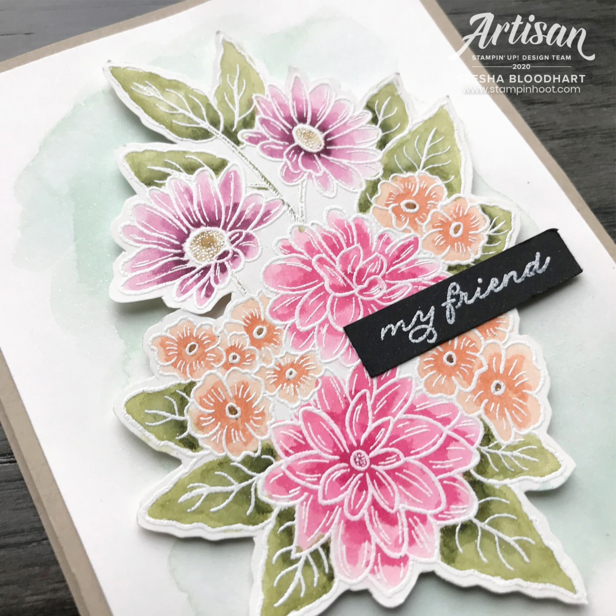 Ornate Garden Mega Suite Bundle by Stampin' Up! Card by Stesha Bloodhart, Stampin' Hoot! 2020 Artisan Design Team Blog Hop