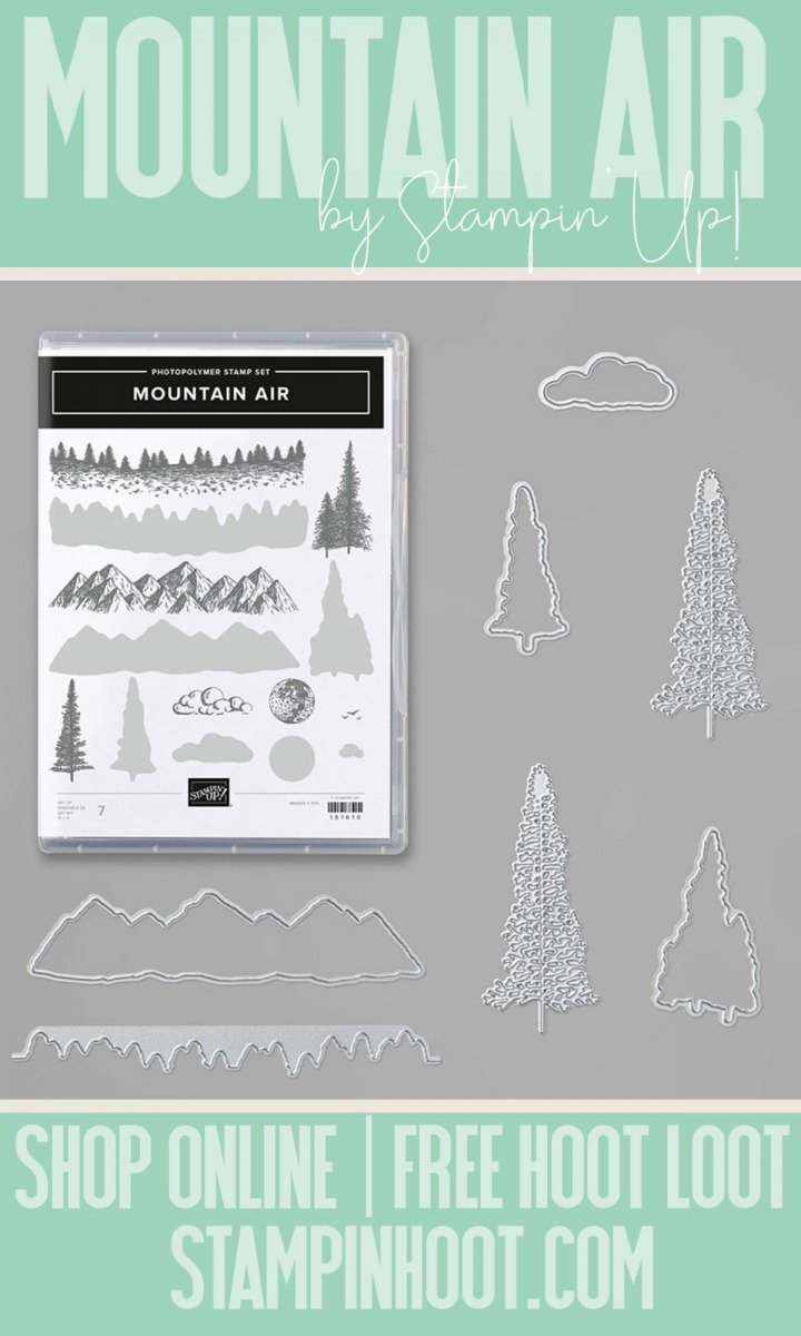 Stampin' Hoot Pin Mountain Air Bundle by Stampin' Up! Item 153820