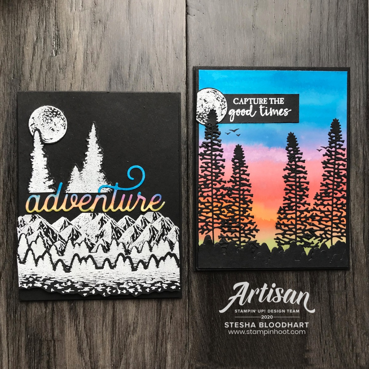 Mountain Air Bundle by Stampin' Up! Card created by Stesha Bloodhart, Stampin' Hoot for 2020 Artisan April Blog Hop