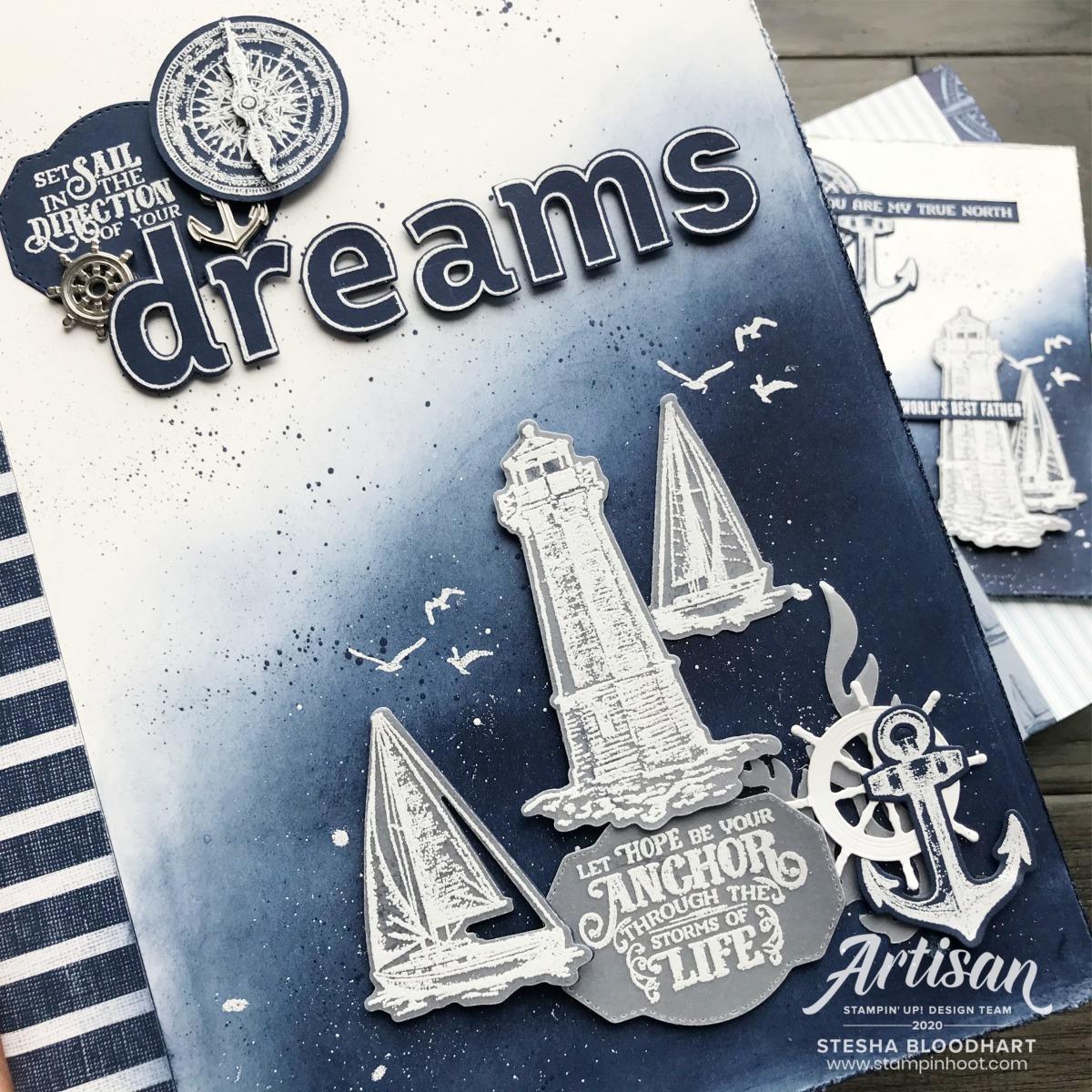 Make a Splash Stampin' Rewards Exclusive Stamp Set by Stampin' Up! Card by Stesha Bloodhart, Stampin' Hoot! 2020 Artisan Design Team