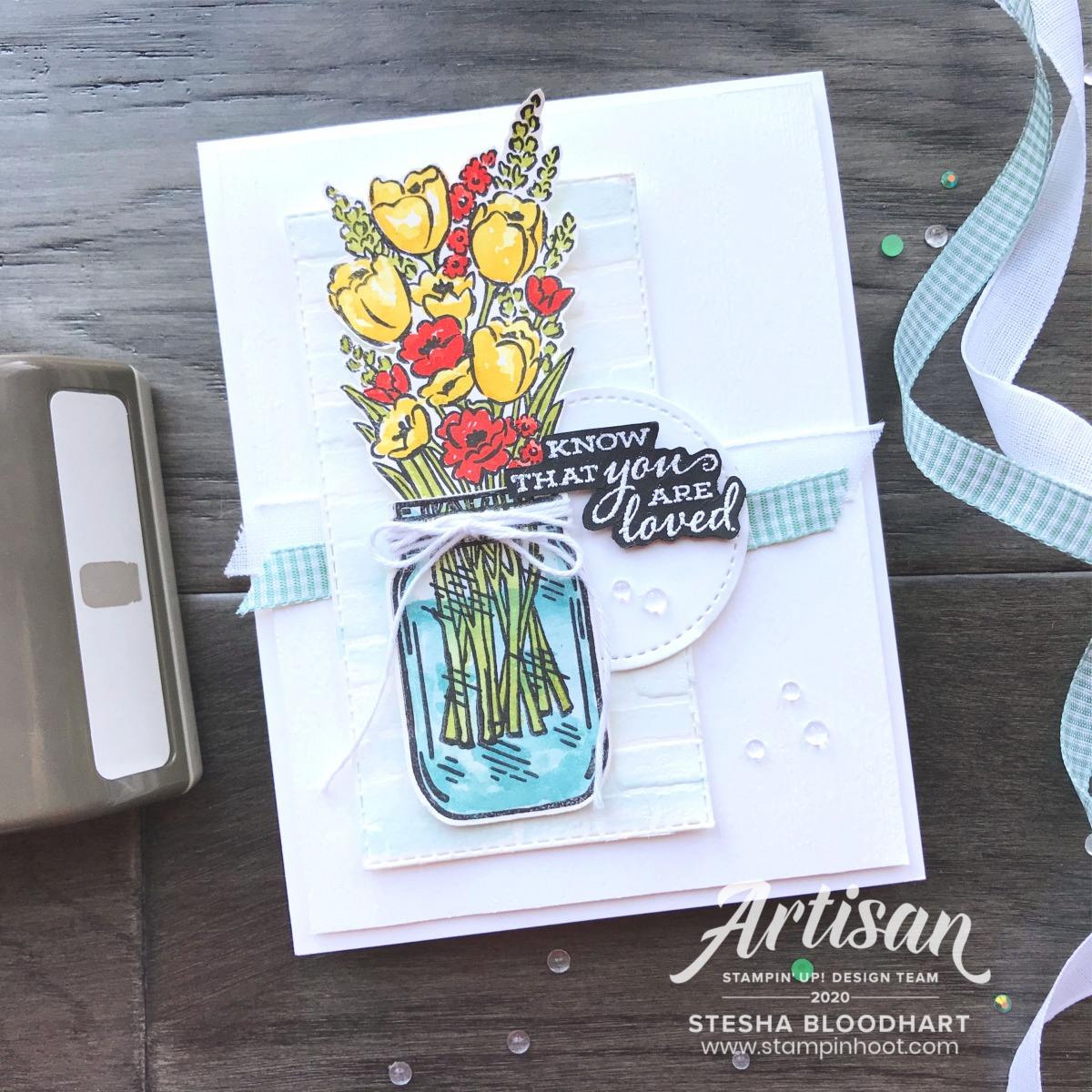 Jar of Flowers Bundle by Stampin' Up!- SNEAK PEEK! - Card created by Stesha Bloodhart, Stampin' Hoot!