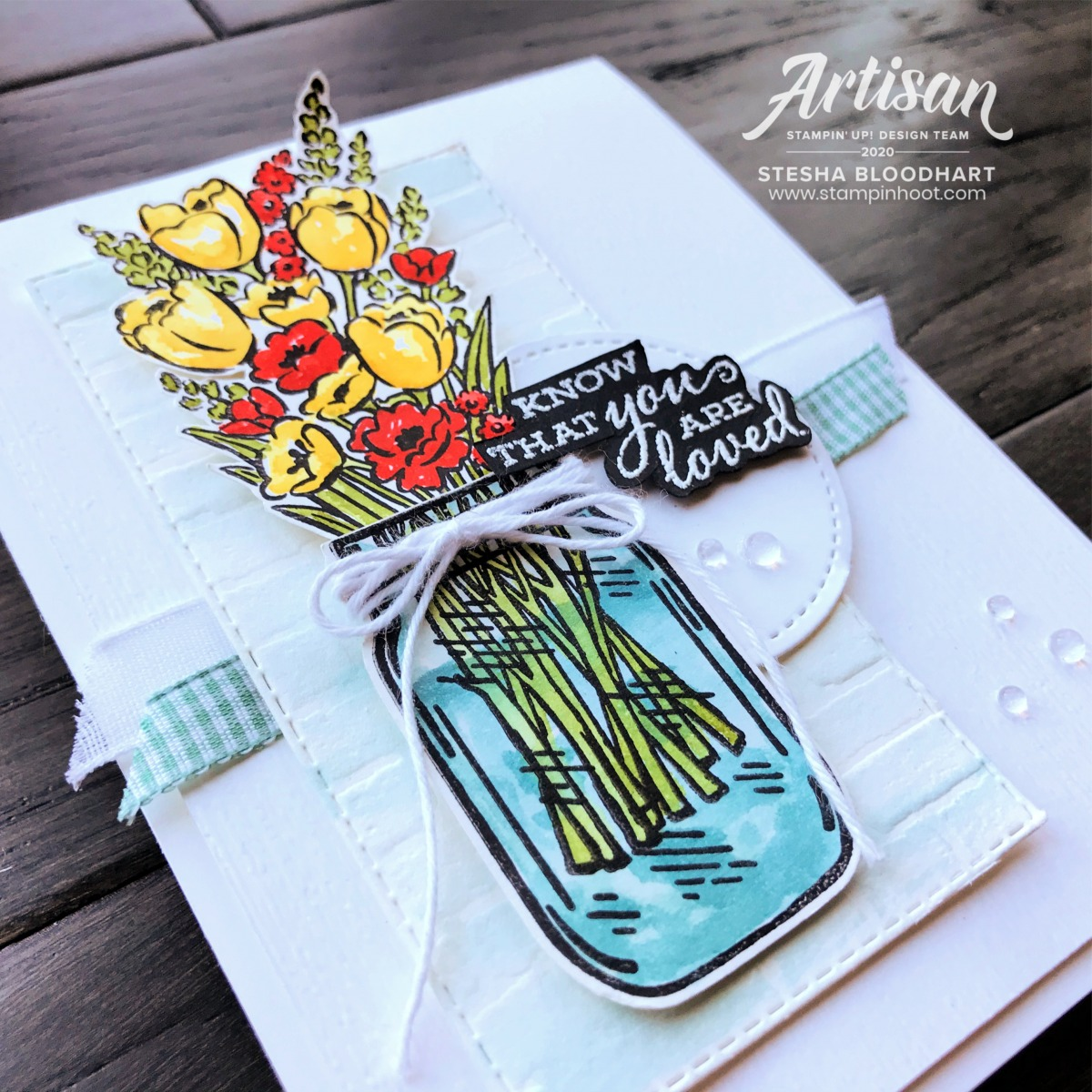 By the Dock Bundle from Stampin' Up! Card by Stesha Bloodhart, Stampin' Hoot!