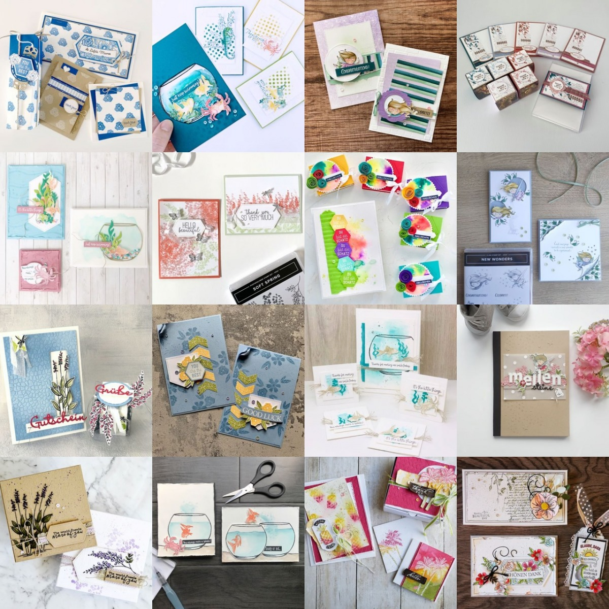 May 2020 Stampin' Up! Artisan Blog Hop Grid