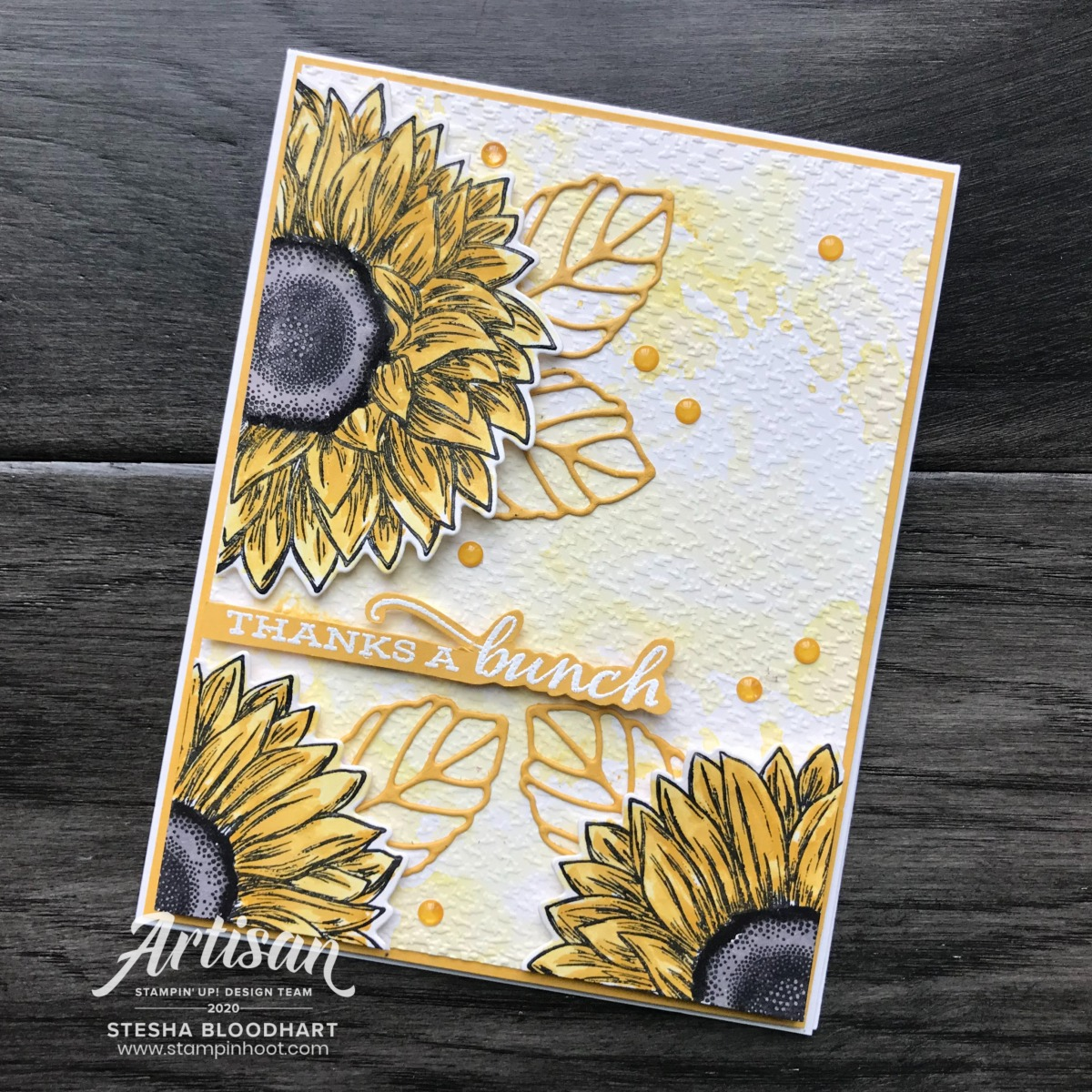 Celebrate Sunflowers Bundle and 2020-2022 In Colors from Stampin' Up! Cards by Stesha Bloodhart, Stampin' Hoot!