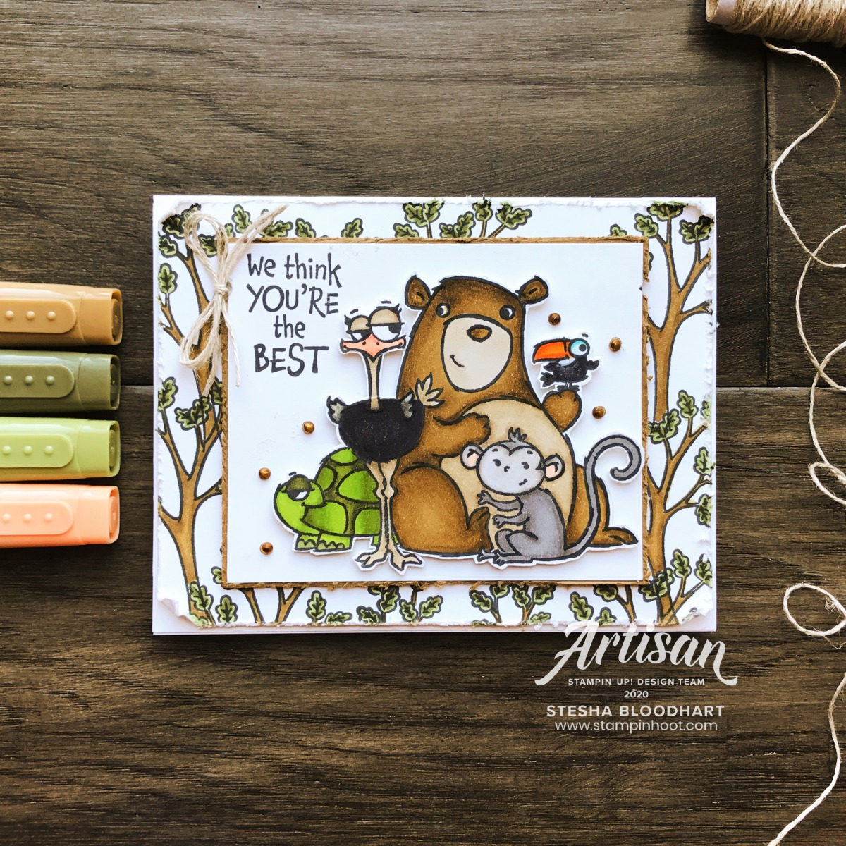 From All of Us Stamp Set from Stampin' Up! Card by Stesha Bloodhart, Stampin' Hoot! (4)
