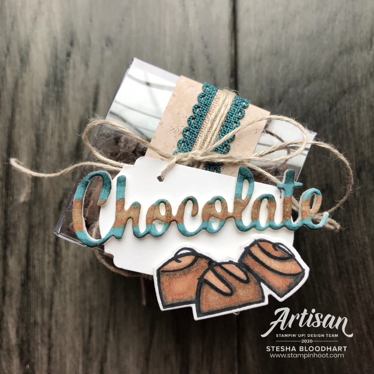 Nothing's Better Than Bundle From Stampin' Up! Chocolate Clear Treat Box created by Stesha Bloodhart, Stampin' Hoot! 2020 Artisan Design Team Blog Hop