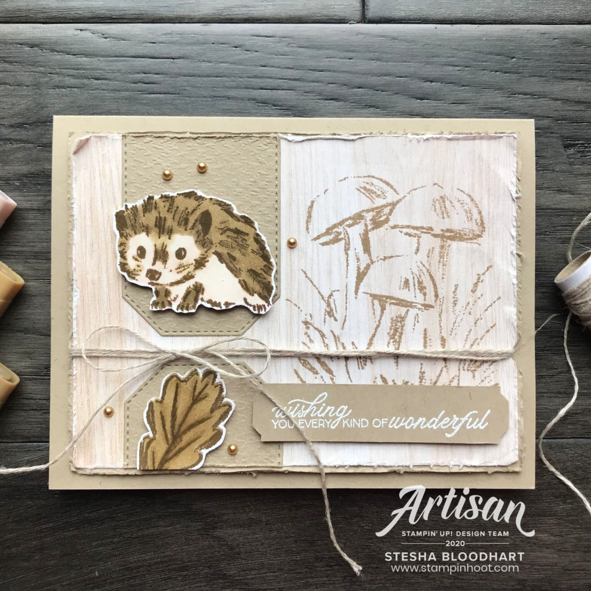 Walk in the Woods Stamp Set from Stampin' Up! Card by Stesha Bloodhart, Stampin' Hoot for #tgifc272 Sketch Challenge