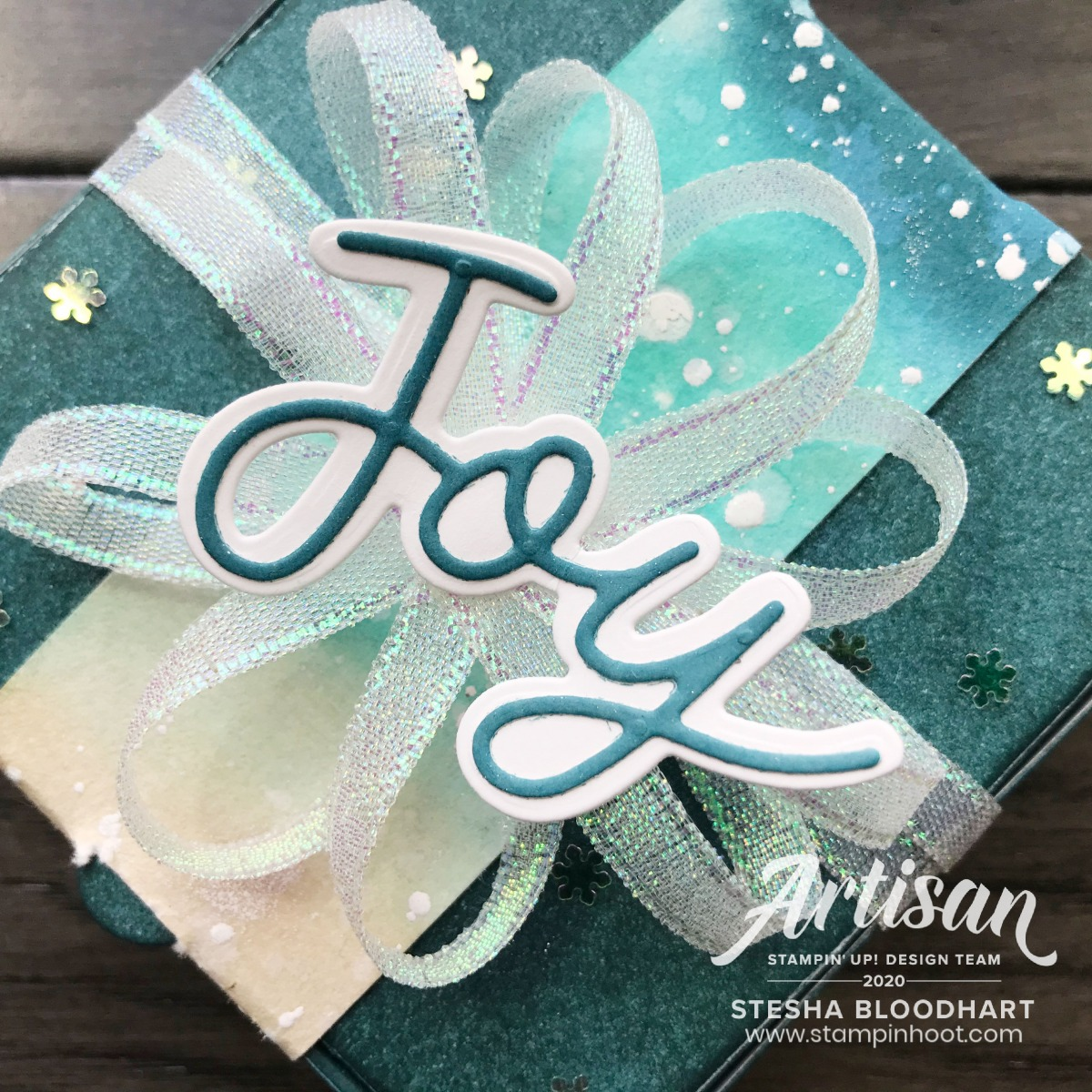Peace & Joy Bundle from Stampin' Up! Creations by Stesha Bloodhart, Stampin' Hoot! 2020 Artisan Design Team