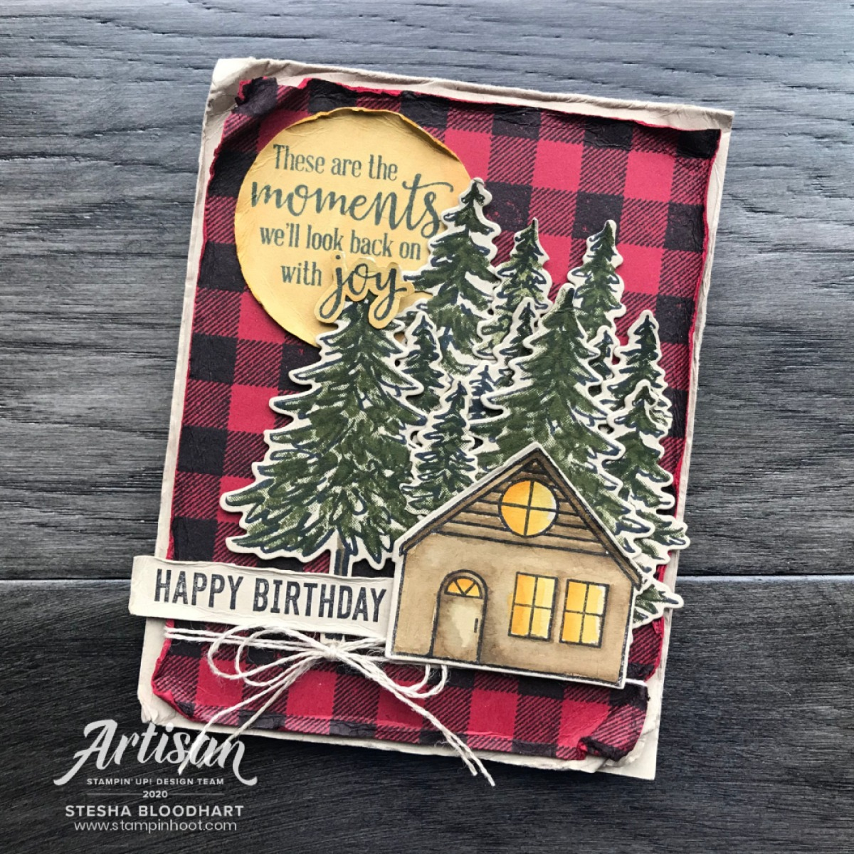 Buffalo Check, In the Pines, Coming Home and More from Stampin' Up! Masculine Birthday Card from Stesha Bloodhart, Stampin' Hoot!