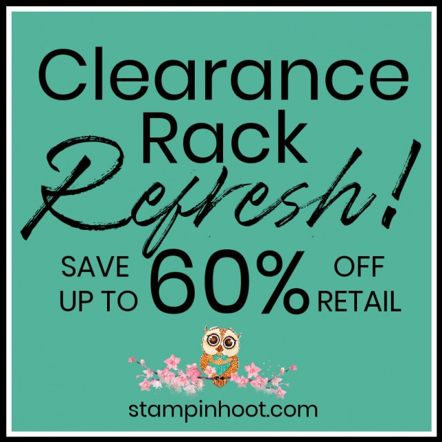 CLEARANCE RACK REFRESH SAVE 60% OFF