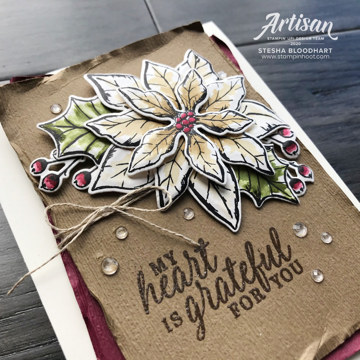 Poinsettia Petals & Beautiful Autumn Stamp Sets by Stampin' Up!