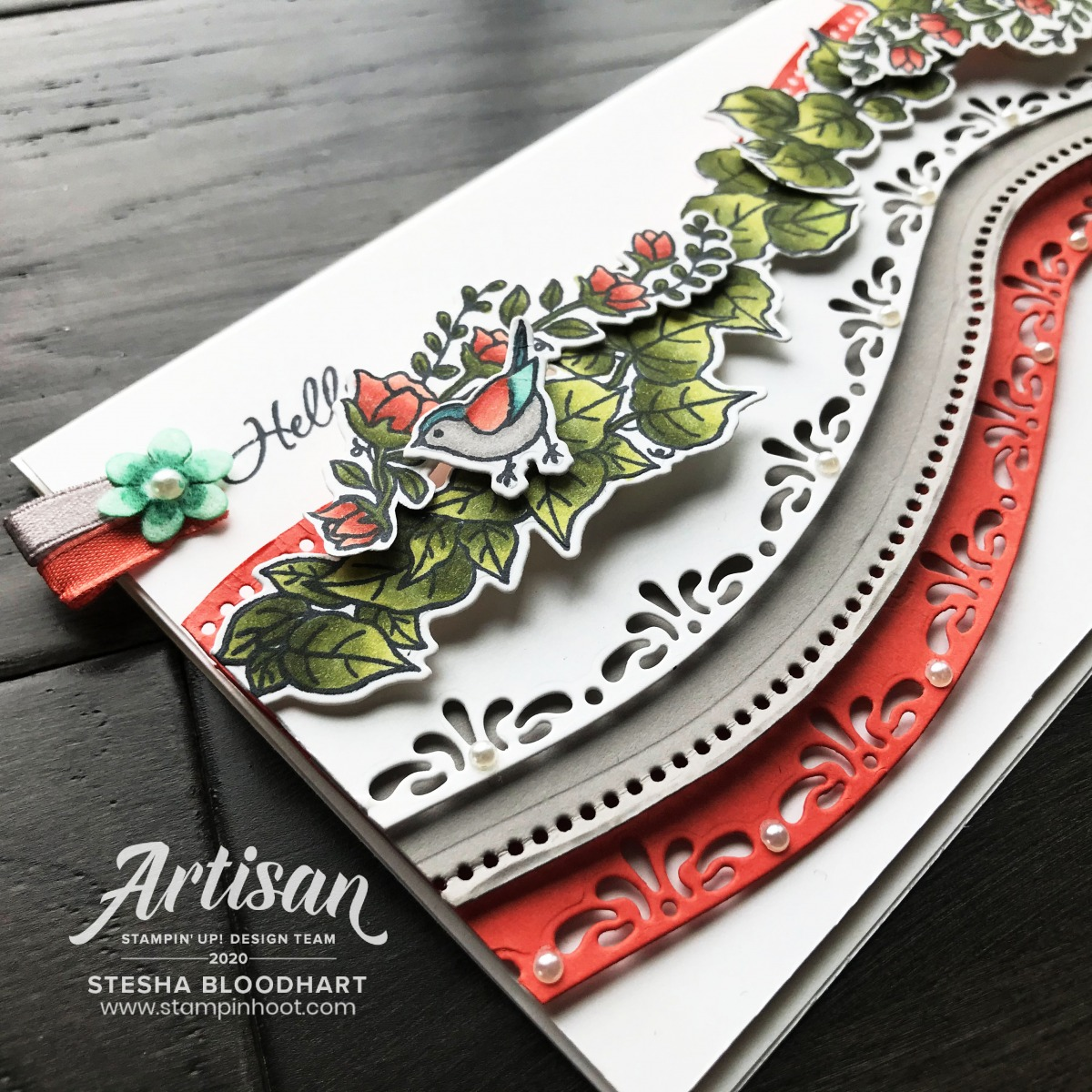 Quite Curvy Bundle from Stampin' Up! Birthday Card from Stesha Bloodhart. Stampin' Hoot!