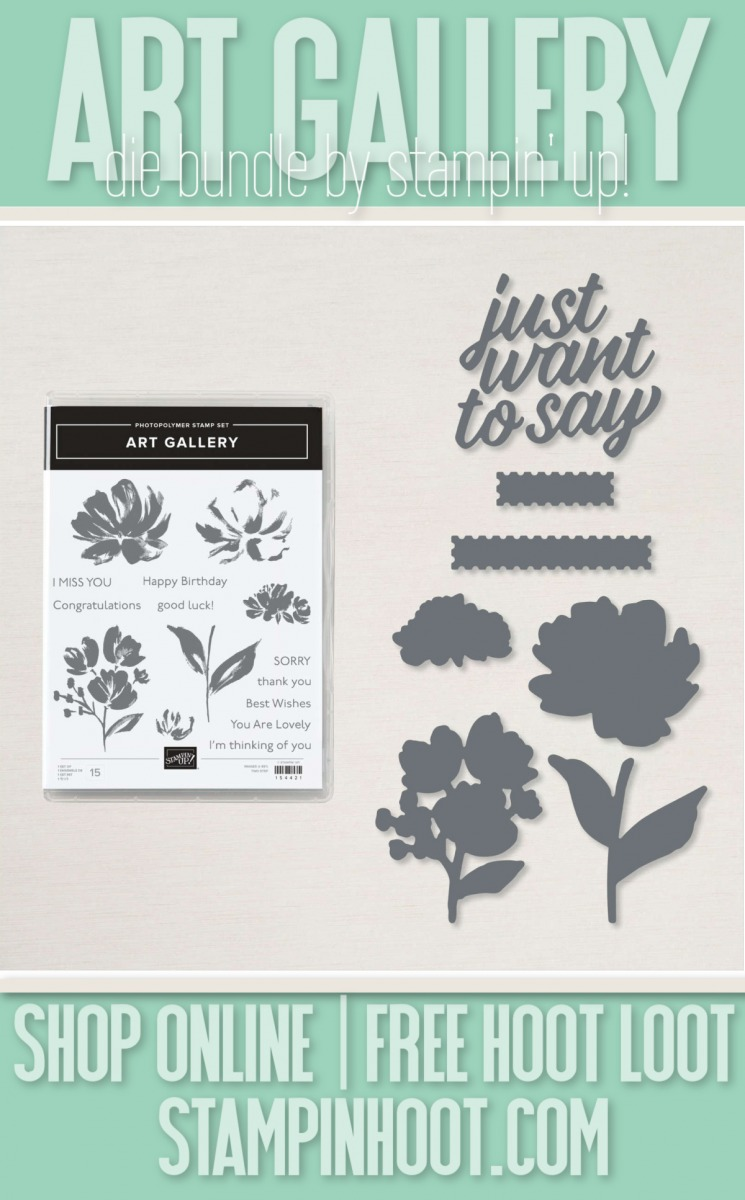 Arty Gallery Bundle from Stampin' Up! Buy online with Stesha Bloodhart, Stampin' Hoot