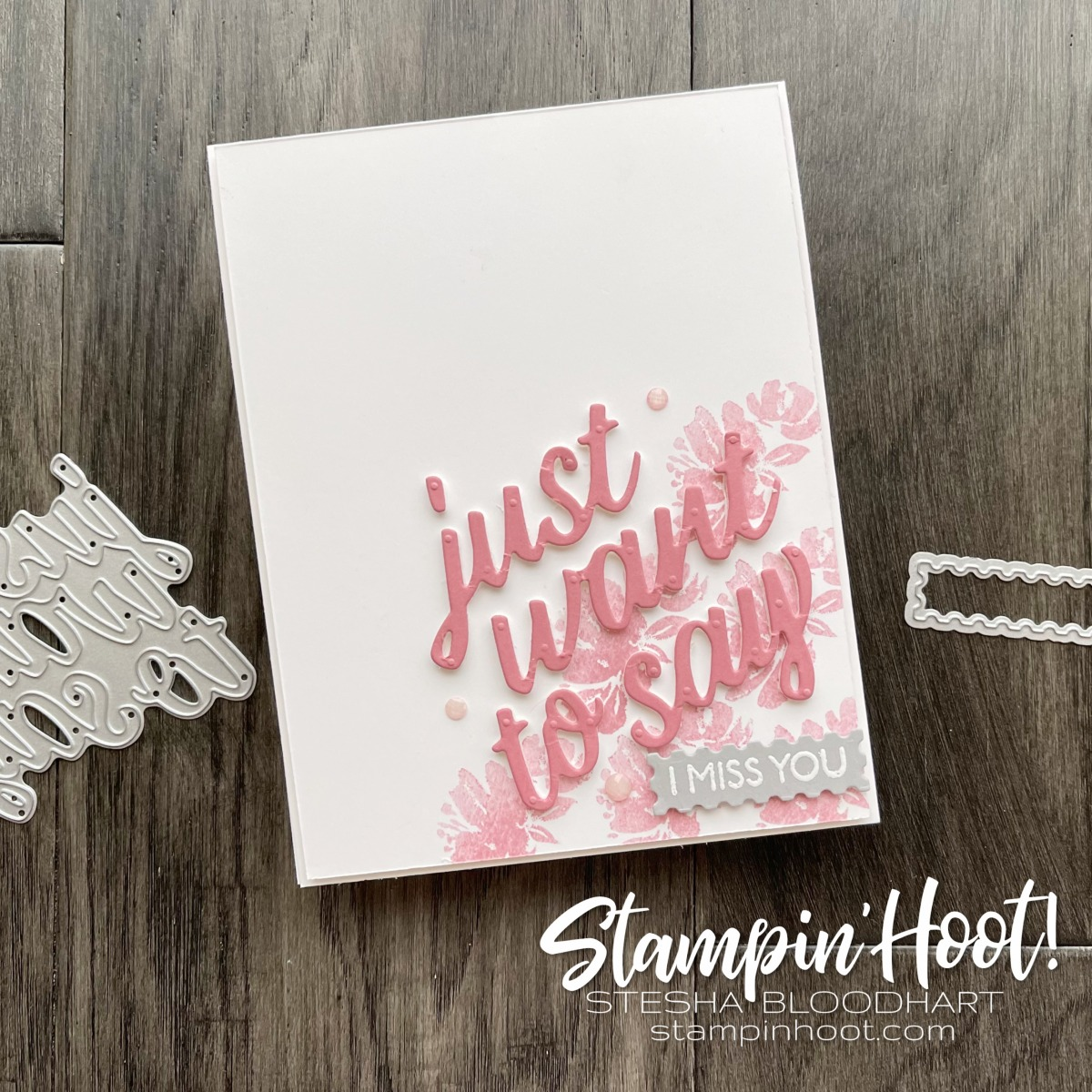 Create this card using the Art Gallery Bundle from Stampin' Up! I Miss You Card by Stesha Bloodhart, Stampin' Hoot!