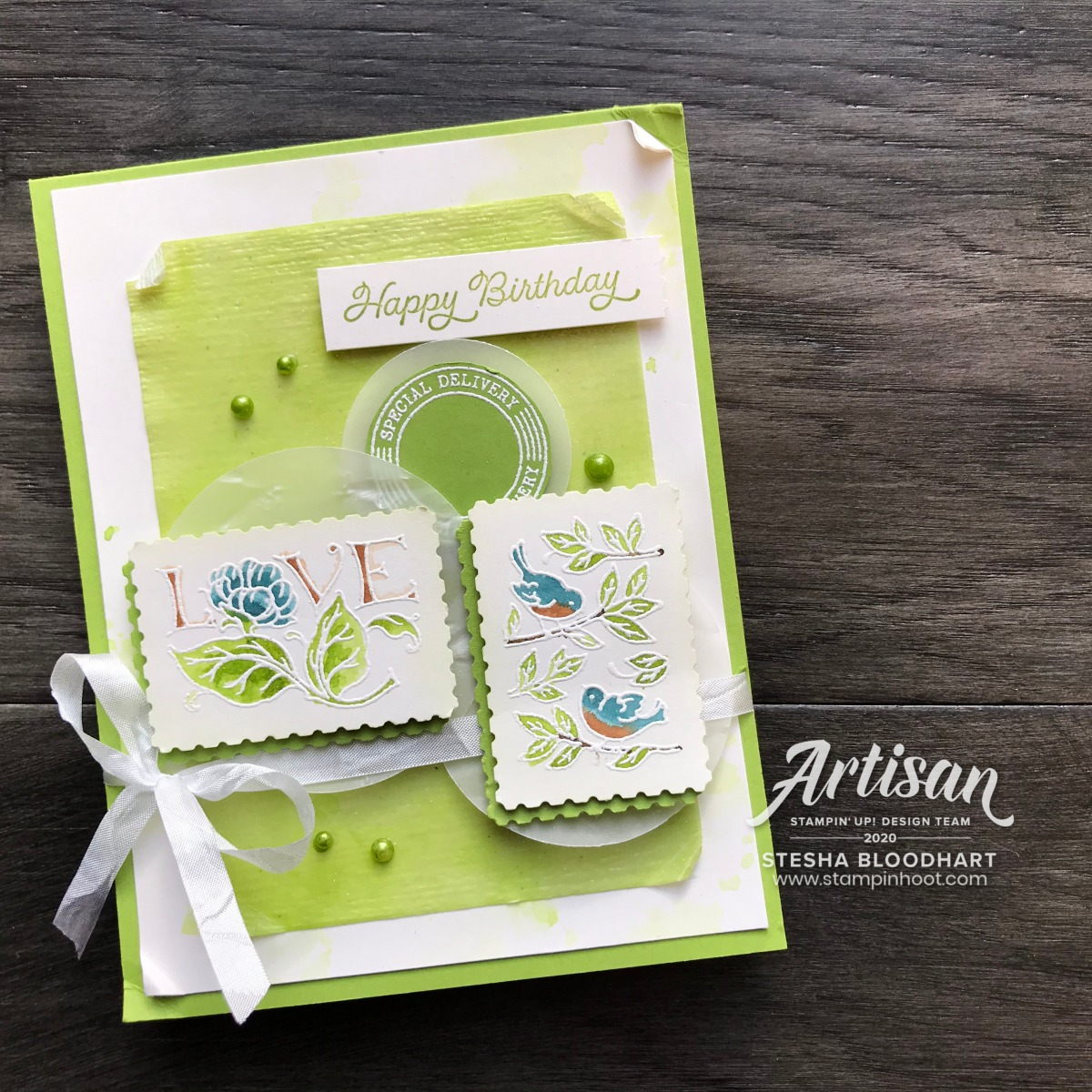 Create this card using the Posted for You Bundle from Stampin' Up! 2020 Artisan Design Team Blog Hop. Stesha Bloodhart, Stampin' Hoot!