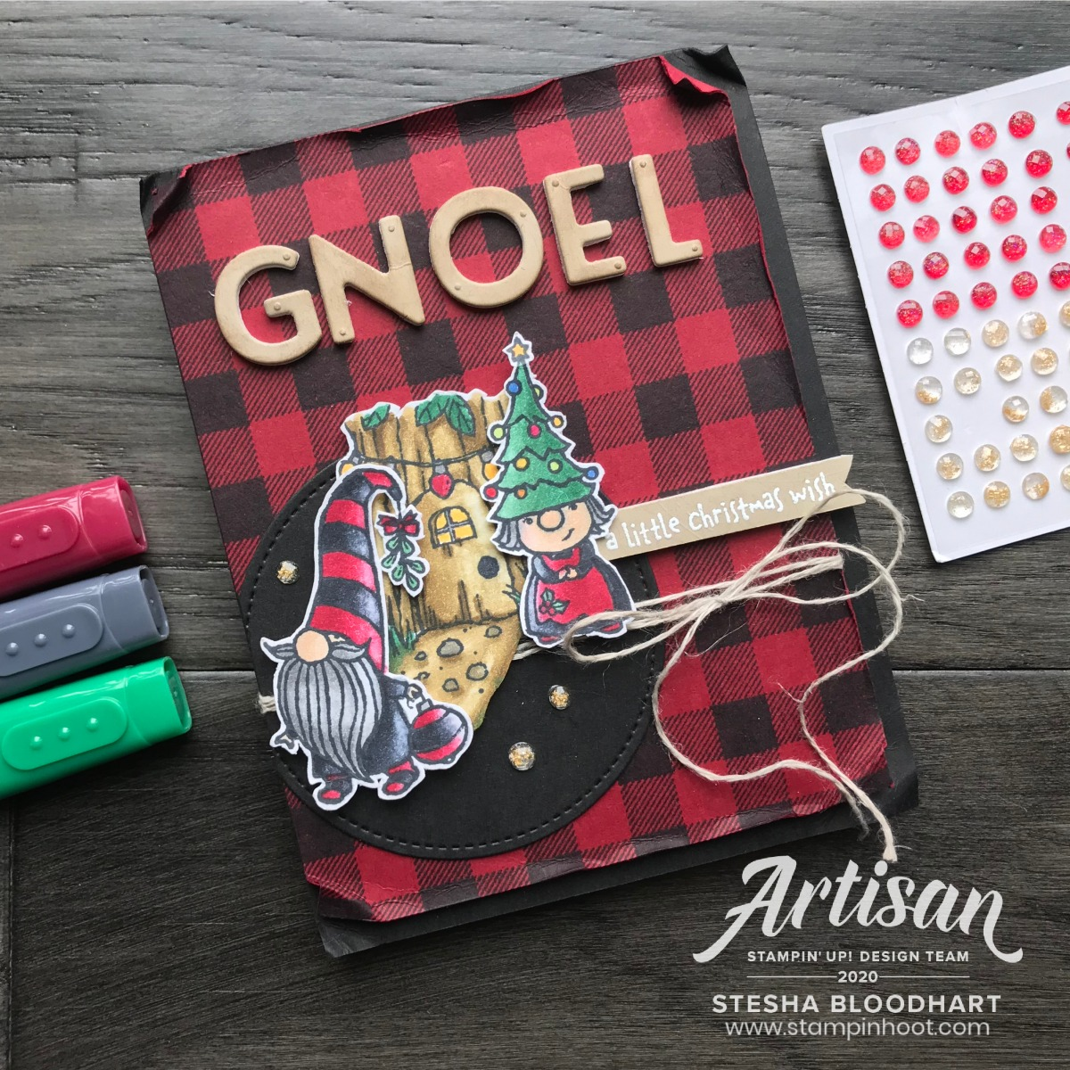 Gnome for the Holidays Stamp Set from Stampin' Up! GNOEL