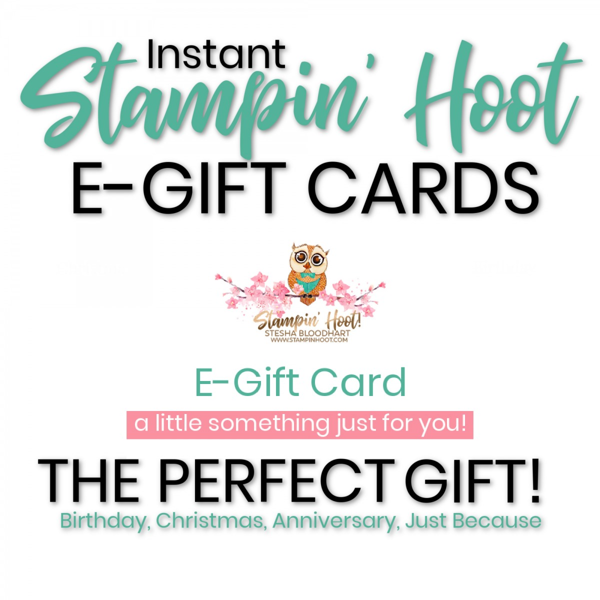Stampin Hoot E Gift Card