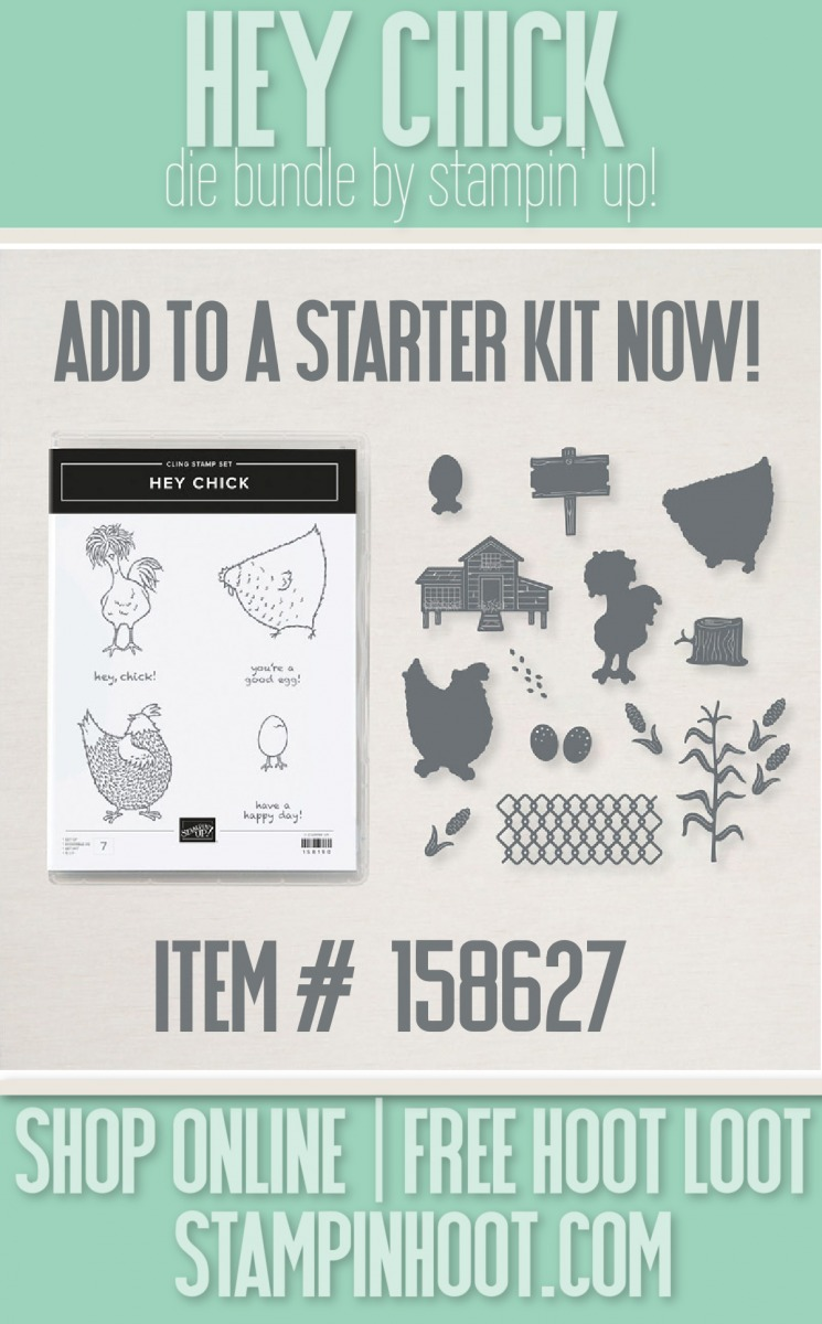 Hey Chick Bundle 158627 from Stampin' Up! Add now to a starter kit with Stesha Bloodhart, Stampin' Hoot