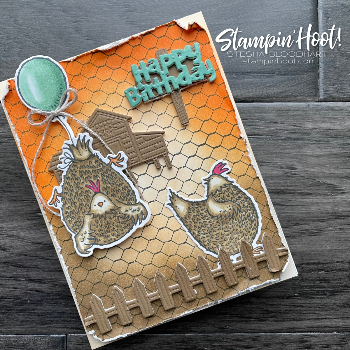 Hey Chick and Hey Birthday Chick get All Wired Up with Stampin' Up! for #tgifc299 Background Stamp Product Spotlight - Stesha Bloodhart, Stampin' Hoot!