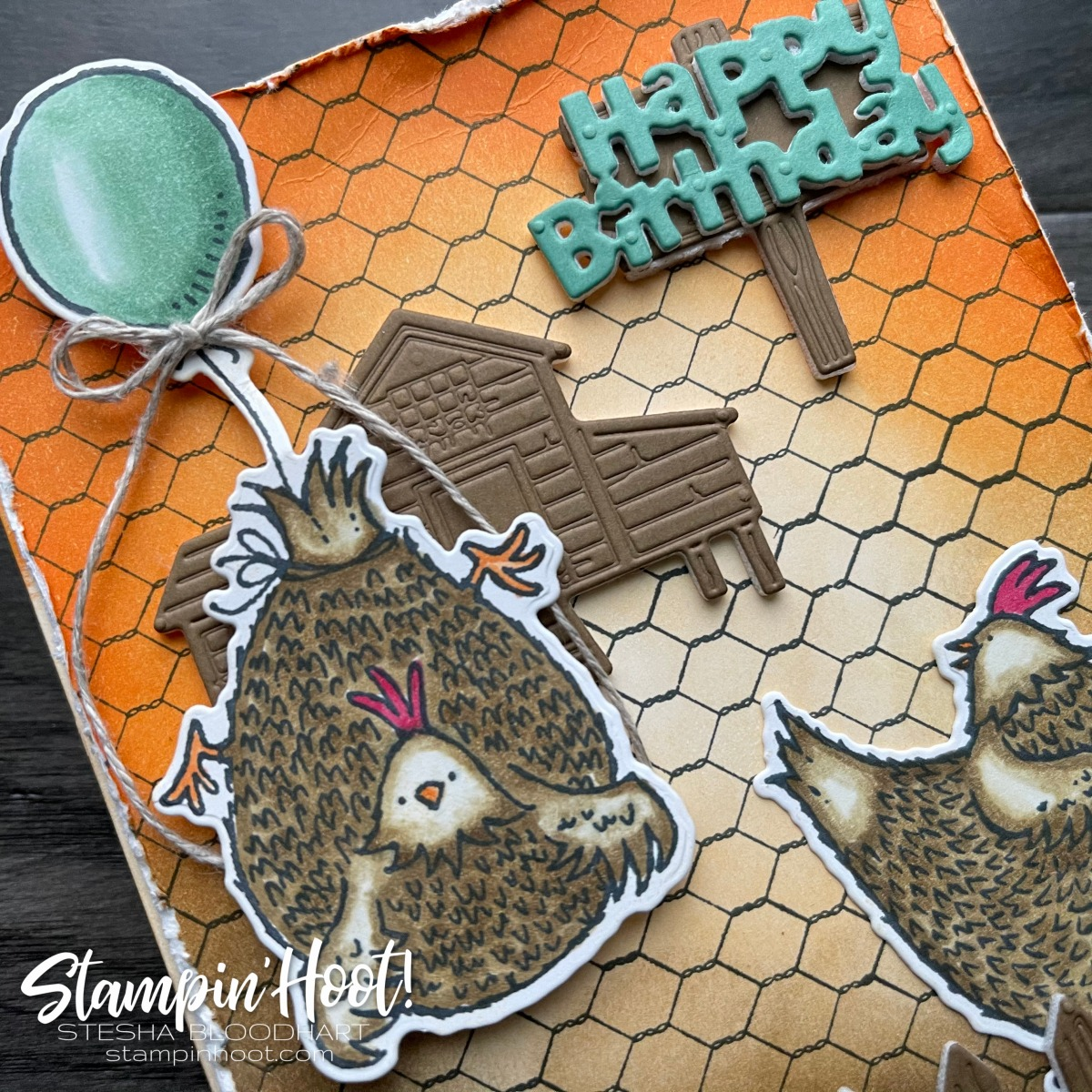 Hey Chick and Hey Birthday Chick Bundles From Stampin' Up! #tgifc299 Background Stamp Challenge (2)