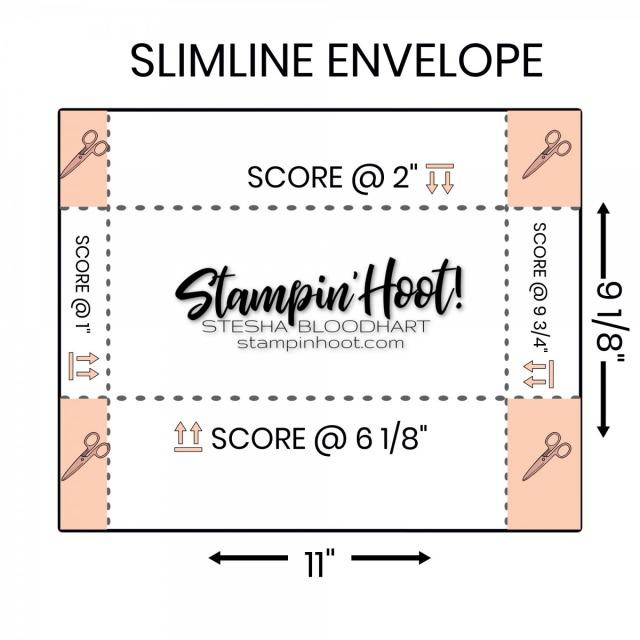 SLIMLINE CARD ENVELOPE #10 Stesha