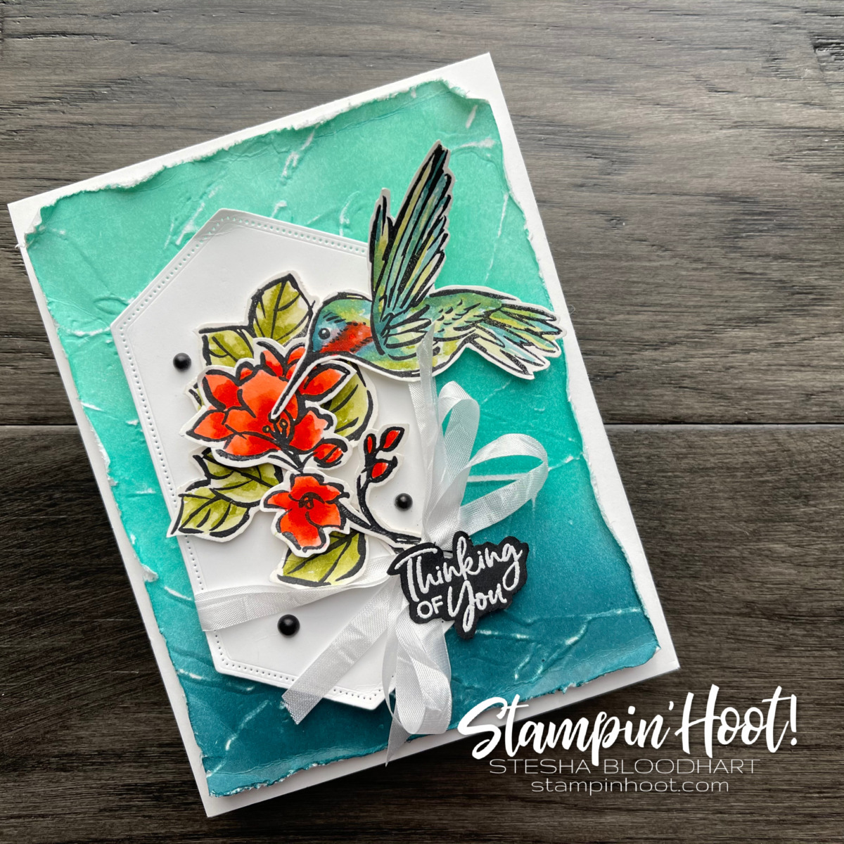 A Touch of Ink Stamp Set from Stampin' Up! Free during Sale-a-Bration. Card created by Stesha Bloodhart, Stampin' Hoot! (1)