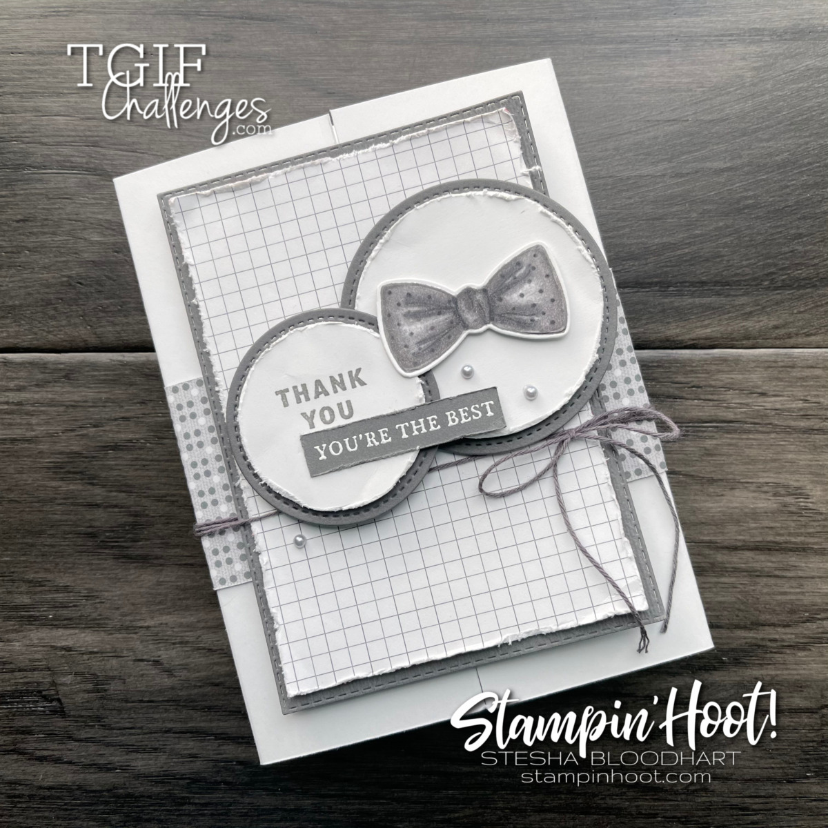 IMG#tgifc307 Sketch Challenge using Well Suited from Stampin' Up! Card by Stesha Bloodhart, Stampin' Hoot!