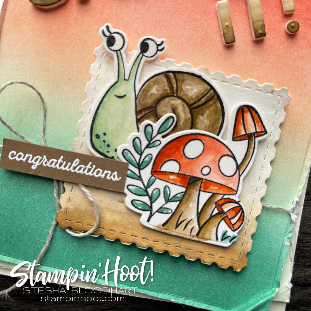 Snailed It Congraulations Card for Stampin' Fancy Friday March Challenge_Stesha Bloodhart Instagram Post (1)