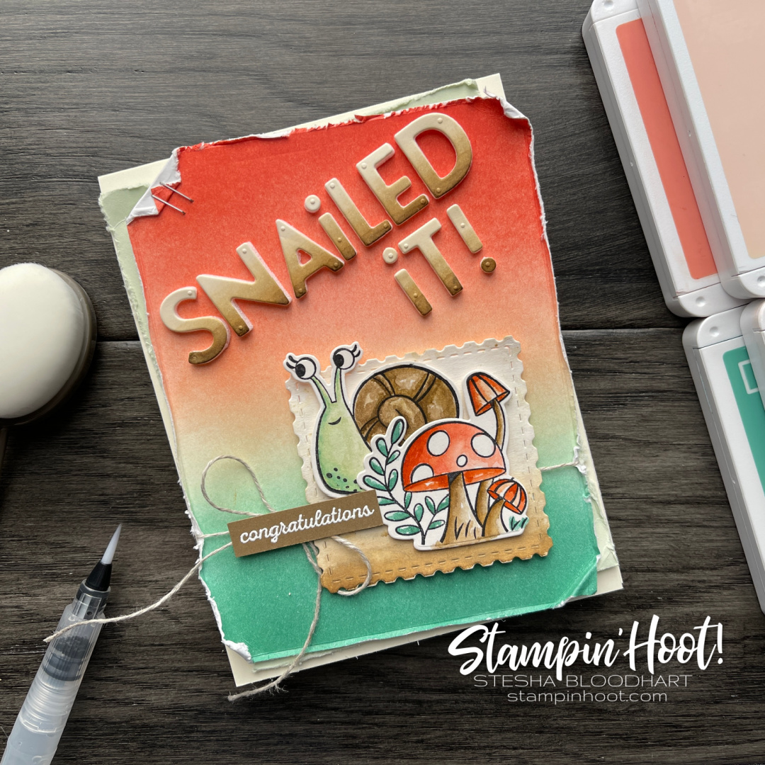 Snailed It Congraulations Card for Stampin' Fancy Friday March Challenge_Stesha Bloodhart Instagram Post