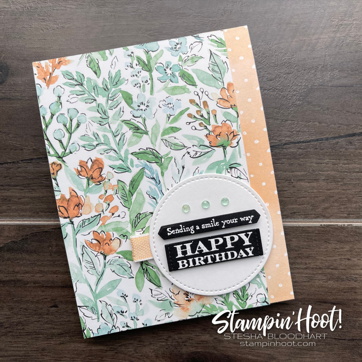 Many Messages Bundle from Stampin' Up! SNEAK PEEK! Hand-Penned Suite Available May 4 Birthday Card By Stesha Bloodhart, Stampin' Hoot!