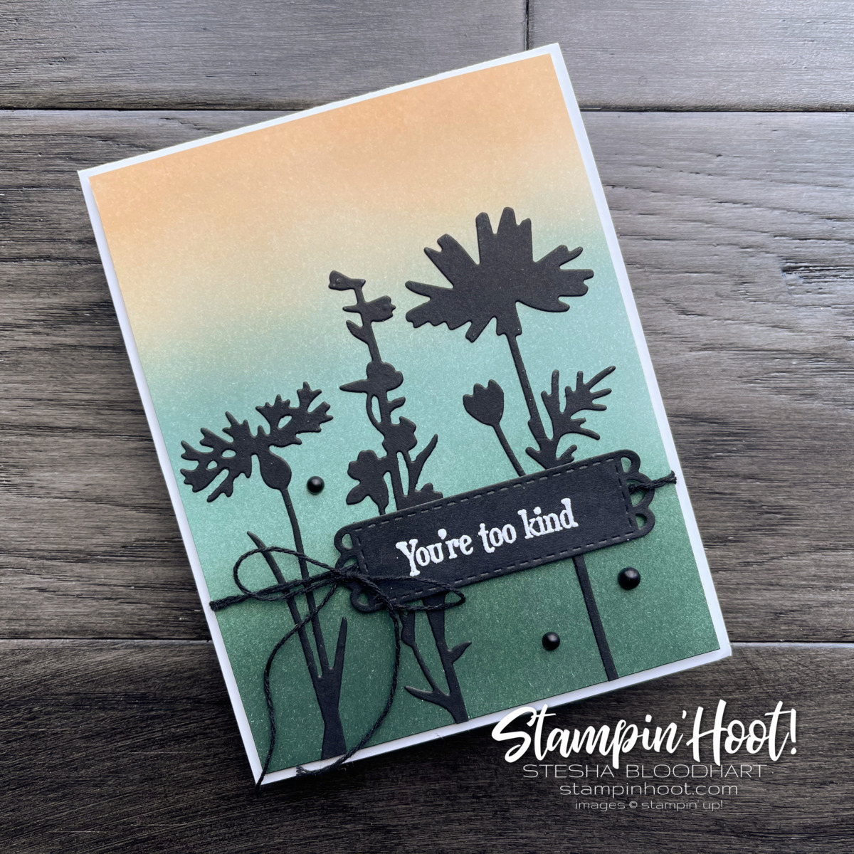 New In Color 2021-2023 Ombre Background Quiet Meadow Bundle from Stampin' Up! Sneak Peek by Stesha Bloodhart, Stampin' Hoot!