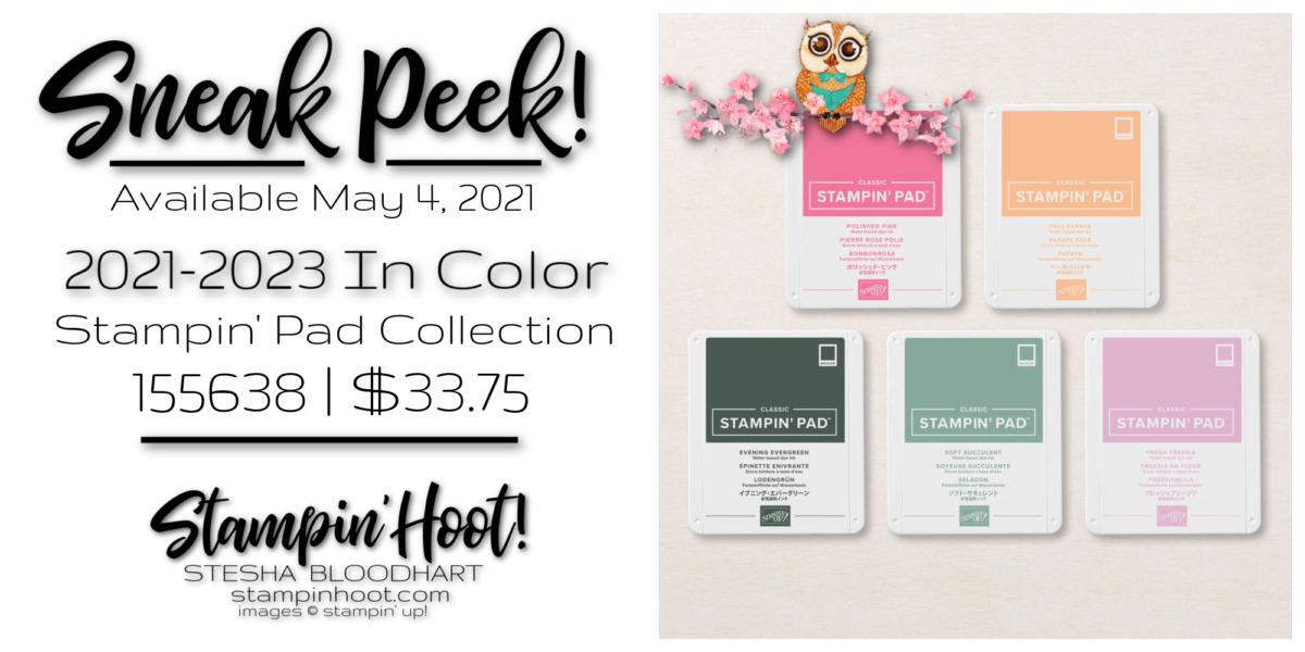 Sneak Peek 2021-2023 In Color Stampin' Pad Bundle by Stampin' Up! Sneak Peek Stesha Bloodhart, Stampin' Hoot