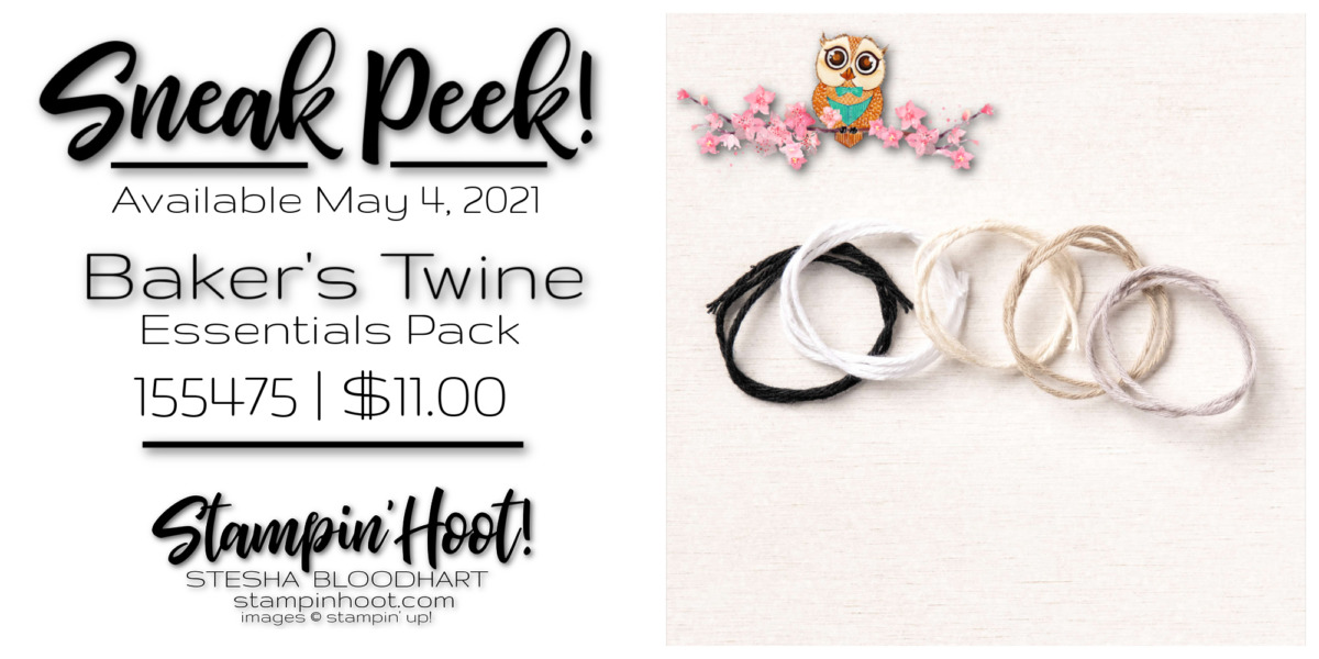 Sneak Peek Baker's Twine Essentials Pack by Stampin' Up! Sneak Peek Stesha Bloodhart, Stampin' Hoot