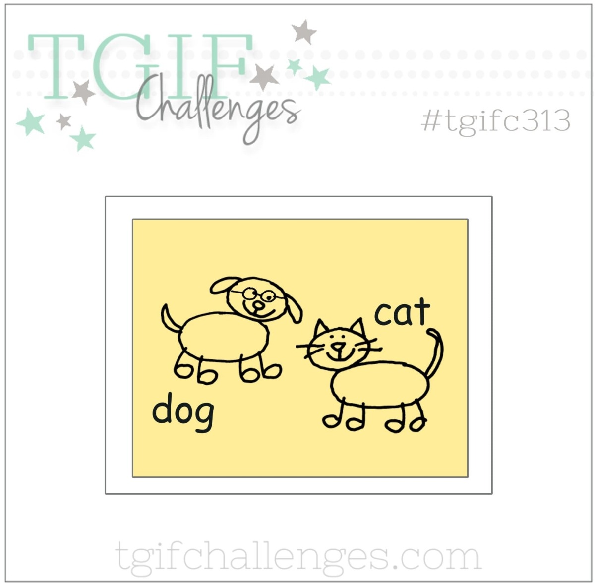 tgifc313 dog cat cards