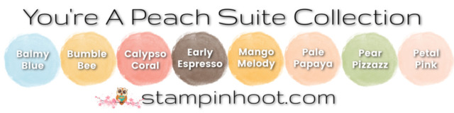 You're A Peach Suite Collection Color Coordination Updated - Stampin' Hoot