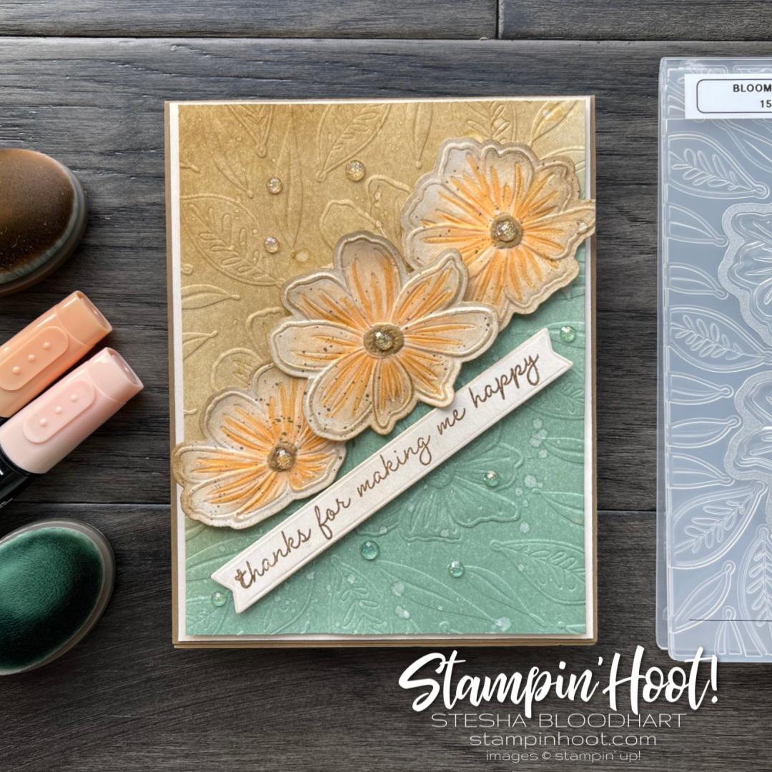 Art In Bloom Bundle - Stampin' Fancy Friday In Color Challenge _ Stesha Bloodhart