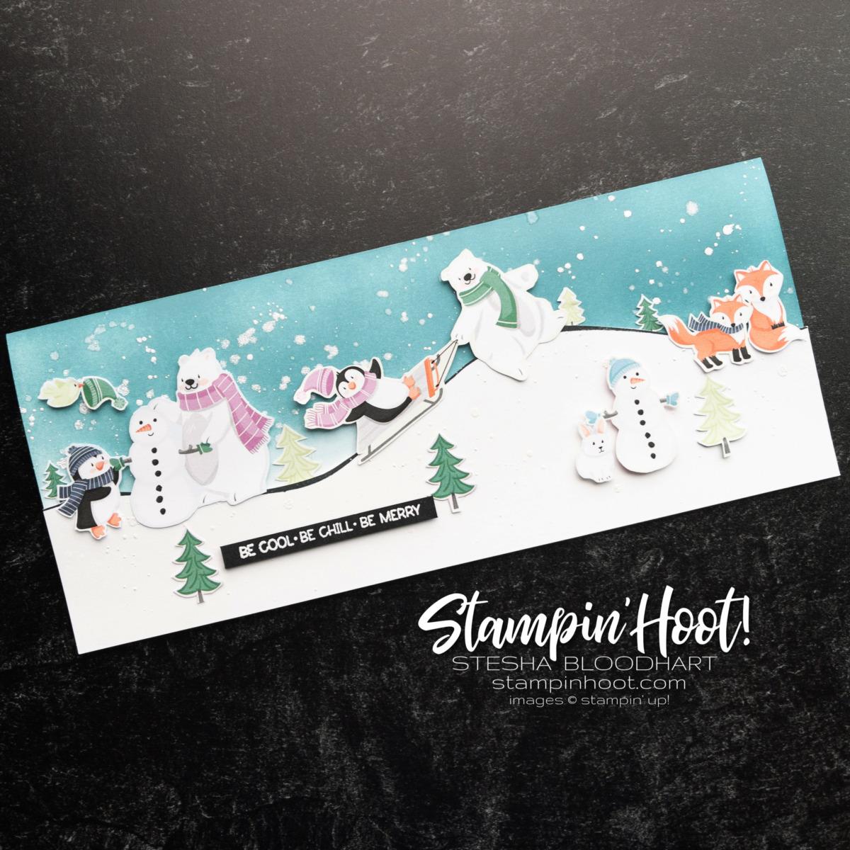 #tgifc326 Decorated Envelopes Challenge Card Slimline Card by Stesha Bloodhart, Stampin' Hoot!