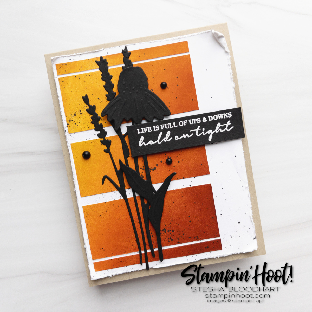 Create this Life is Full of Ups and Downs Nature's Harvest Bundle Stampin' Up! Card by Stesha Bloodhart Stampin' Hoot