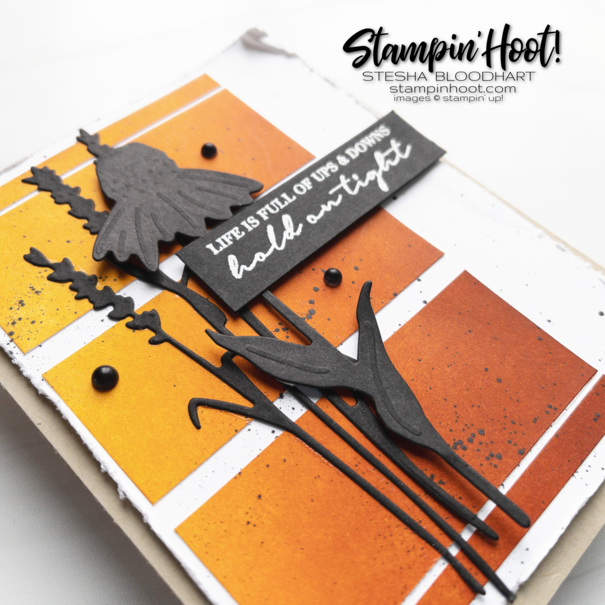 Create this friend card using the Nature's Harvest Bundle by Stampin' Up! Blending Brushes Stesha Bloodhart, Stampin' Hoot!