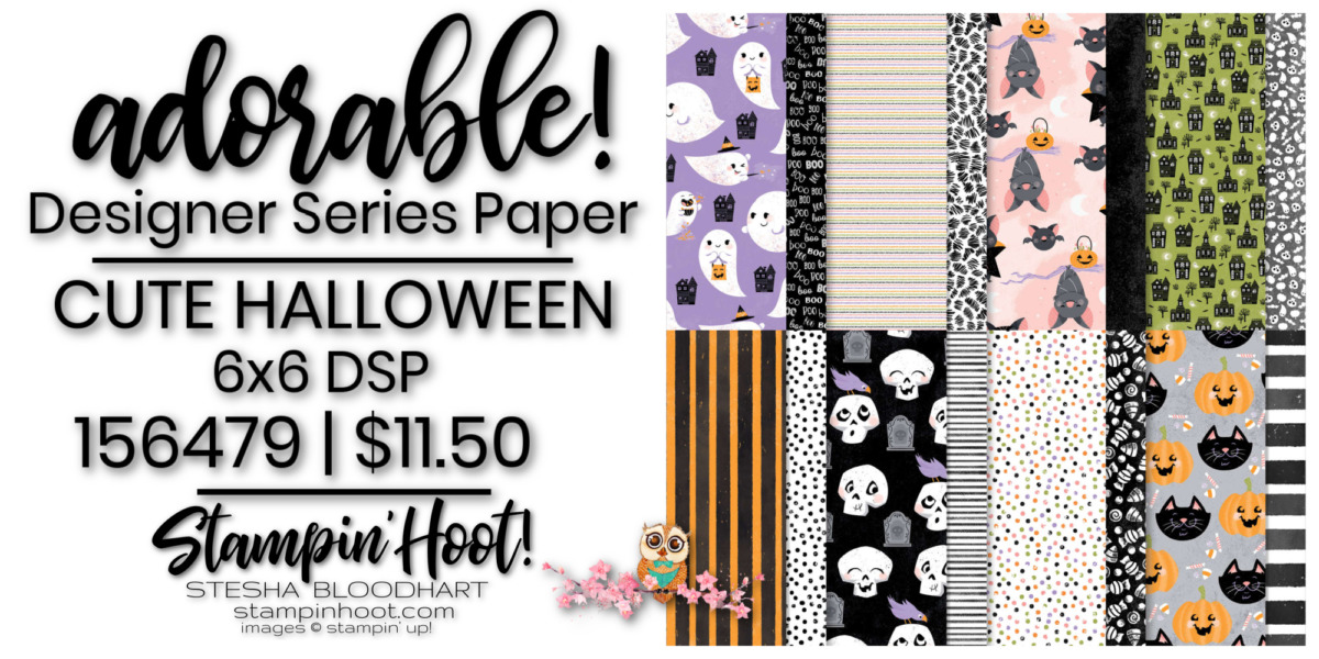 Cute Halloween 6x6 DSP 156479 by Stampin' Up! Order Online with Stesha Bloodhart, Stampin' Hoot!